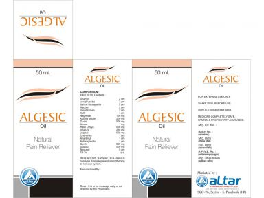 ALGESIC-OIL - Altar Pharmaceuticals Pvt. Ltd.