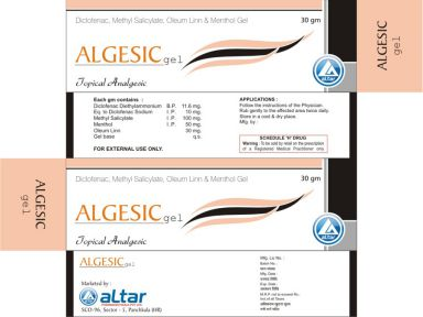 ALGESIC - Altar Pharmaceuticals Pvt. Ltd.