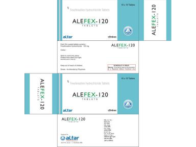 ALEFEX - 120* - Altar Pharmaceuticals Pvt. Ltd.