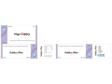 COLDTER PLUS - Altar Pharmaceuticals Pvt. Ltd.